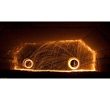 Wirewool Spinning Photographic Print