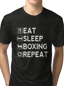 Eat Sleep Boxing Repeat Tri-blend T-Shirt