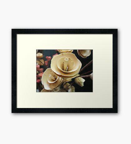 Wooden Roses Framed Print