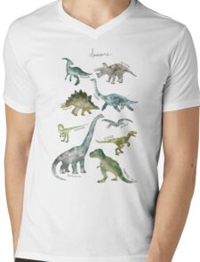 Dinosaurs Mens V-Neck T-Shirt