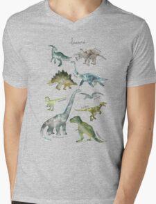 Dinosaurs Mens V-Neck T-Shirt