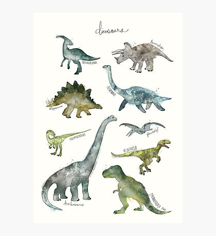Dinosaurs Photographic Print
