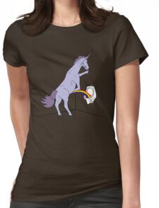 Unicorns Piss Rainbows? Womens Fitted T-Shirt