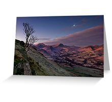 moon over newlands valley Greeting Card
