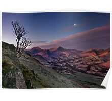 moon over newlands valley Poster