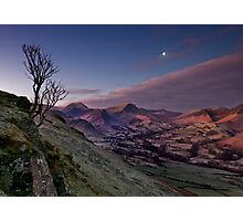 moon over newlands valley Photographic Print