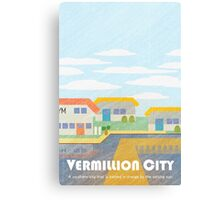 Kanto Towns - Vermillion City Canvas Print