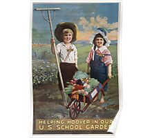 Helping Hoover in our US school garden Poster