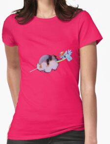 Dark Side of The--- Rainbow Dash Womens Fitted T-Shirt