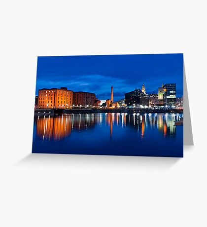 salthouse dock, liverpool Greeting Card