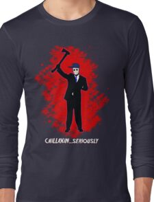 Hockey Mask and a Suit-raw Long Sleeve T-Shirt