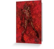 My Bloody Scarecrow by Kevin C. Steele Greeting Card