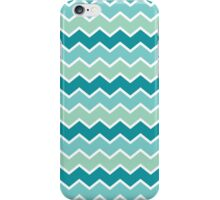 Blue and Green Chevron Pattern iPhone Case/Skin