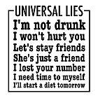 Universal Lies by gleekgirl
