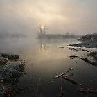Fog upon river by Stanislav Salamanov