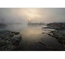 Fog upon river Photographic Print