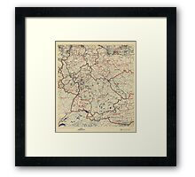 July 10 1945 World War II Twelfth Army Group Situation Map Framed Print
