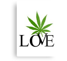 Love Marijuana Metal Print