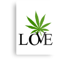 Love Marijuana Metal Print