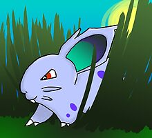 Nidoran Female in Long Grass by sarahmca