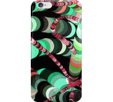 Color Worms Turquoise iPhone Case/Skin
