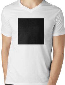 Black Square  Mens V-Neck T-Shirt