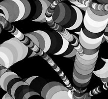 Black and White Worms by SRowe Art