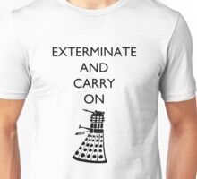 Exterminate and Carry On - Light Tee Unisex T-Shirt