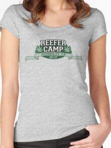 """Reefer Camp"" Marijuana Women's Fitted Scoop T-Shirt"