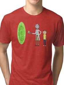Rick & Morty makin' a portal Tri-blend T-Shirt