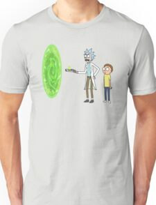 Rick & Morty makin' a portal Unisex T-Shirt