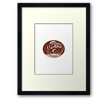 trout fish jumping retro Framed Print