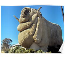 Big Merino  RAMBO  Goulburn  NSW Poster