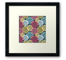 Colourful Floral Blooms Pattern Framed Print