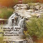 Christ who strengthens me by cardsforyou