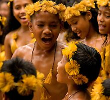 Children's Dance - Pohnpei, Micronesia by Alex Zuccarelli