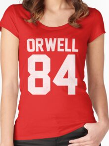 Orwell 84 Jersey - White Women's Fitted Scoop T-Shirt