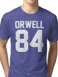 Orwell 84 Jersey - White Tri-blend T-Shirt
