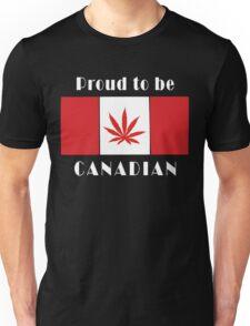 Canadian Flag Weed Unisex T-Shirt