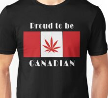 Canadian Flag Weed Unisex T-Shirt