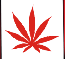 Canadian Flag Weed Sticker