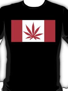 Canadian Flag Marijuana Leaf T-Shirt