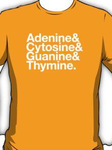 Adenine & Cytosine & Guanine & Thymine. - white design T-Shirt