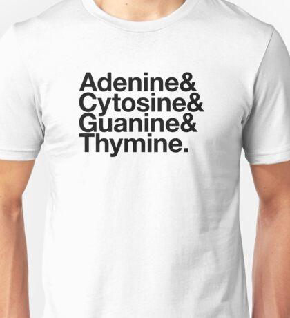 Adenine & Cytosine & Guanine & Thymine. - black design Unisex T-Shirt