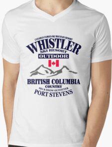 Whistler Ski Resort - British Columbia - Canada Mens V-Neck T-Shirt