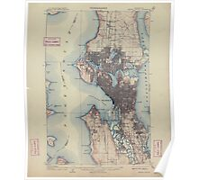 USGS Topo Map Washington State WA Seattle Special 243628 1909 62500 Poster