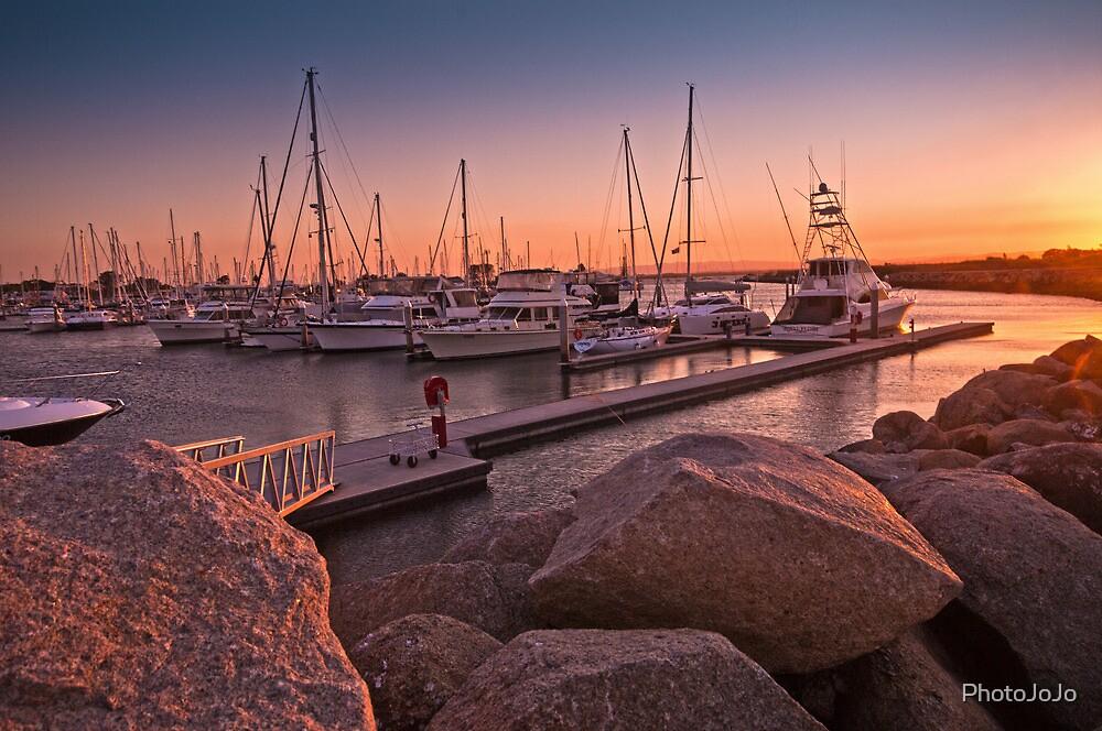 Scarborough Marina Sunset Brisbane Australia by PhotoJoJo