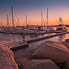Scarborough Marina Sunset Brisbane Australia by PhotoJoJo