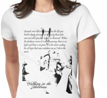 Walking in the Shadows Womens Fitted T-Shirt