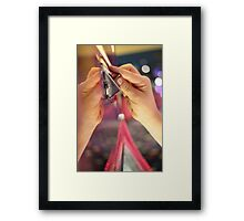 Into the Slot Framed Print